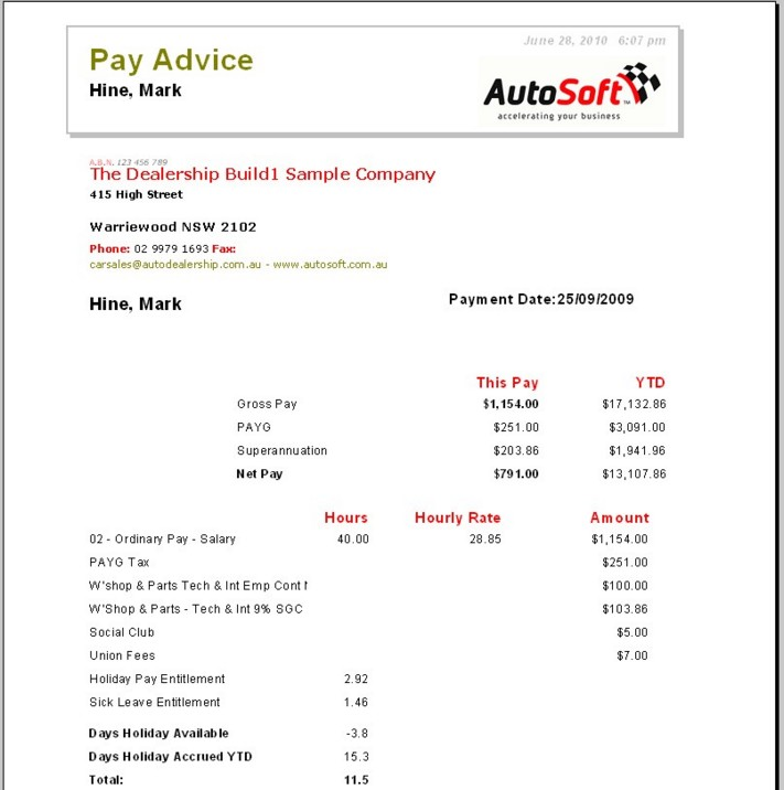 Pay Advice